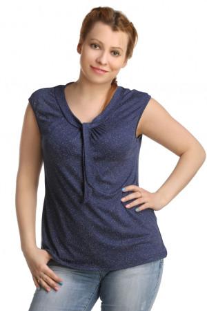 Жен. блуза арт. 16-0222 Темно-синий р. 42 ЕленаТекс